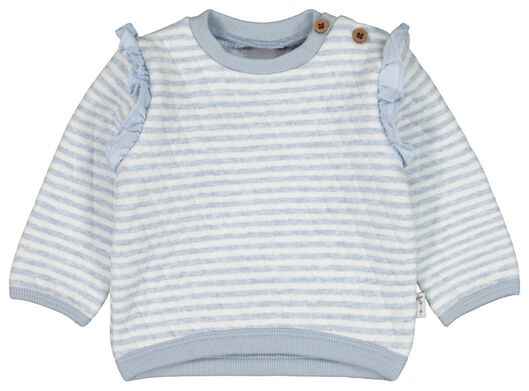 baby sweater stripes padded light blue light blue - 1000022189 - hema