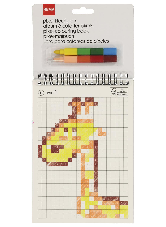 album à colorier pixel