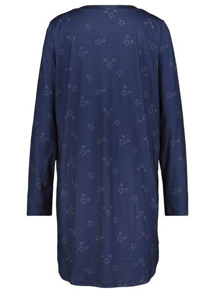 women's nightshirt dark blue dark blue - 1000017231 - hema