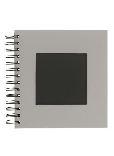 Fotoalbum mit Sichtfenster, 19 x 18 cm, grau - 14633321 - HEMA