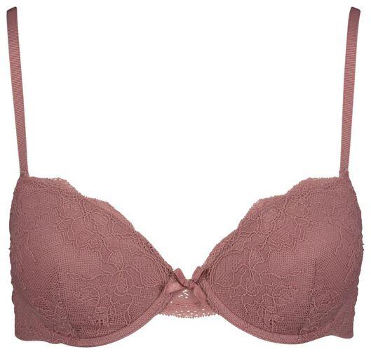 padded T-shirt bra lace pink pink - 1000018618 - hema