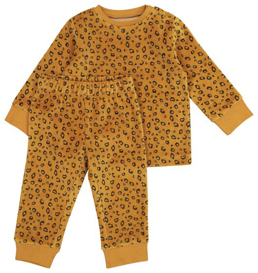 HEMA Velours-Baby-Pyjama, Tiere Braun
