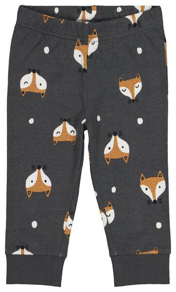 2er-Pack Baby-Pyjamas, Fuchs dunkelgrau 74/80 - 33310011 - HEMA