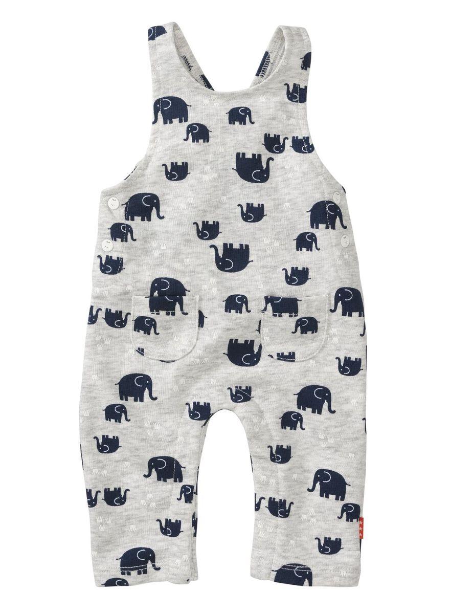 eff1f67ea736 baby newborn jumpsuit grey melange - HEMA