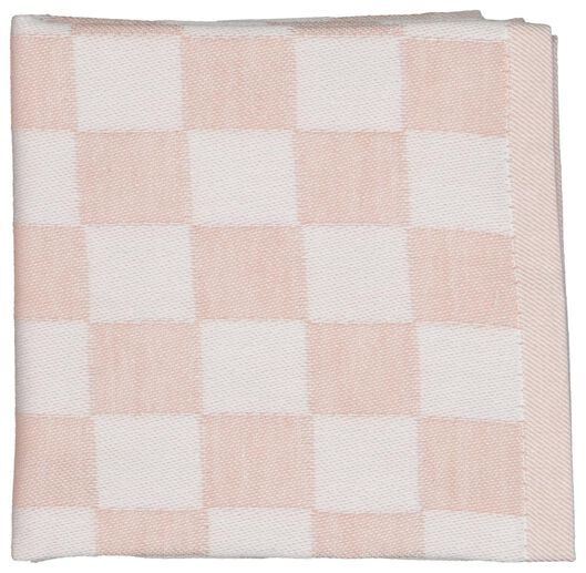 4 tea and kitchen towels - cotton - coral - 5490036 - hema
