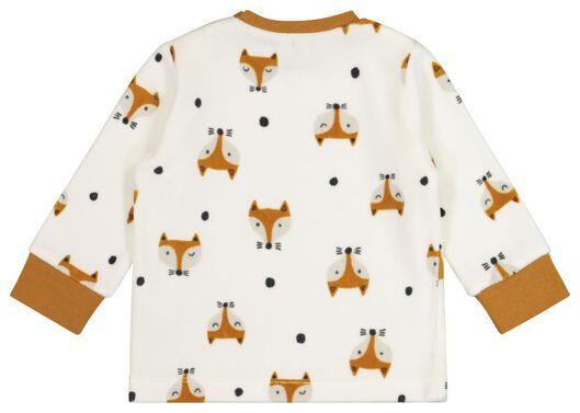 Velours-Baby-Pyjama, Füchse eierschalenfarben eierschalenfarben - 1000020006 - HEMA