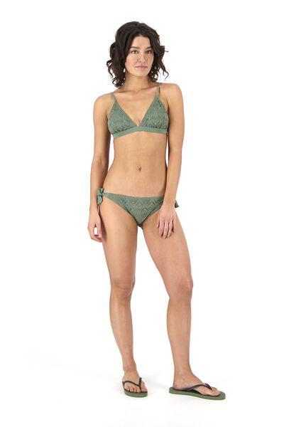 Bademode - HEMA Damen Bikinislip Graugrün  - Onlineshop HEMA