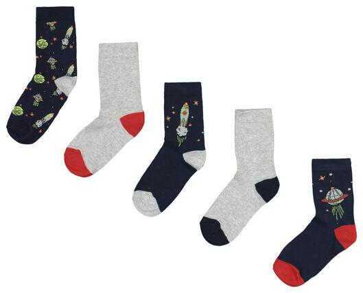 5er-Pack Kinder-Socken, Weltraum bunt bunt - 1000020456 - HEMA