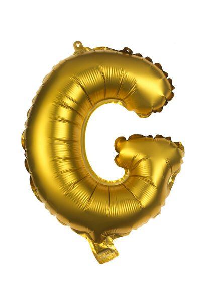 foil balloon G gold G - 14200245 - hema