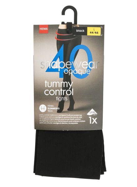 Strumpfhose Tummy Control, 40 Denier schwarz schwarz - 1000001206 - HEMA