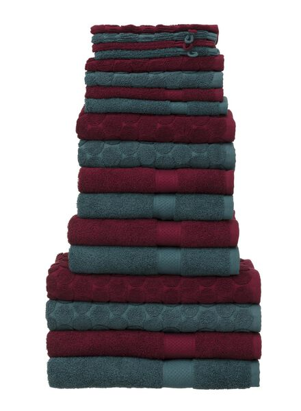 serviette de bain - 50x100 cm - qualité épaisse - vert foncé - 5220013 - HEMA