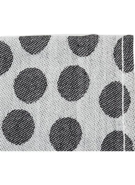 tea towel 65 x 65 cm theedoek black/white - 5440226 - hema