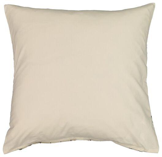 cushion cover - 50x50 - canvas - black/ecru - 7320015 - hema