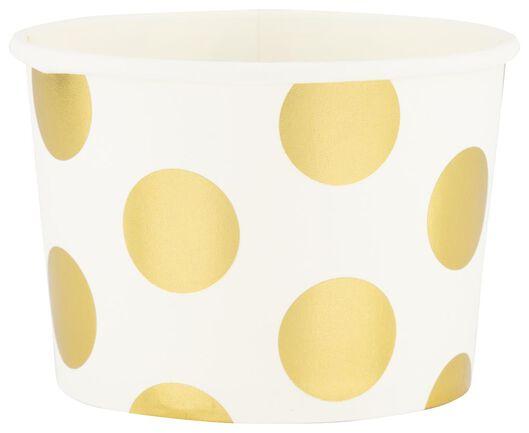 papieren bakjes - 450 ml - gouden stip - 5 stuks - 14280209 - HEMA