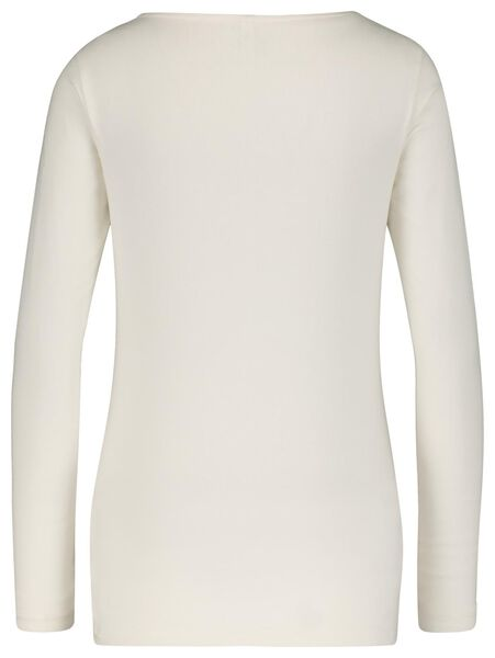 Damen-Shirt, U-Boot-Ausschnitt eierschalenfarben M - 36359858 - HEMA