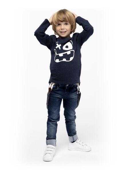 jean enfant modèle regular fit denim foncé denim foncé - 1000016828 - HEMA