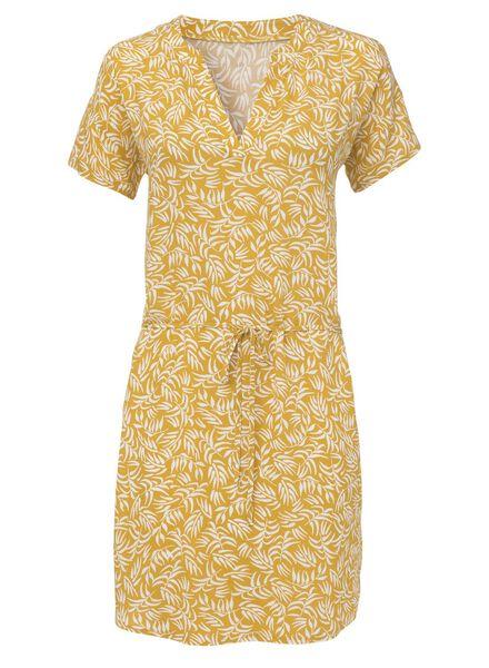 women's dress yellow yellow - 1000006776 - hema