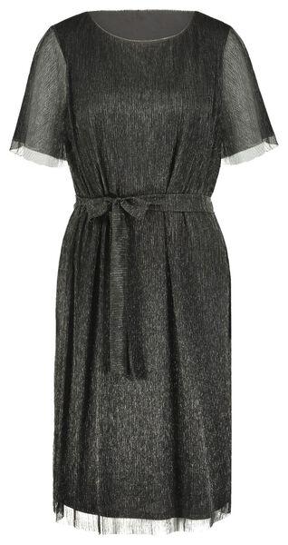 damesjurk plissé zwart zwart - 1000021705 - HEMA