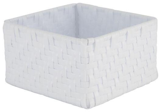 Aufbewahrungskorb, 14 x 14 x 8 cm, weiß - 39811061 - HEMA