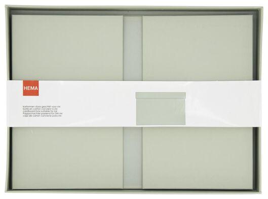 Ordnungsbox aus Pappe, 24 x 33 x 15 cm, mintgrün - 39822222 - HEMA