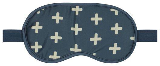 children's neck cushion and sleeping mask blue/white - 18630401 - hema
