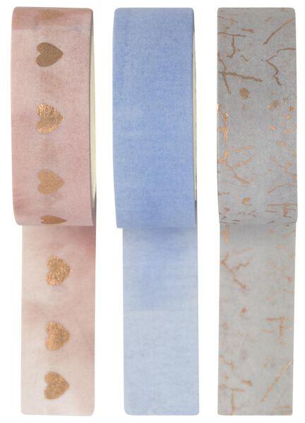 3 rouleaux de ruban adhésif washi - 14120045 - HEMA