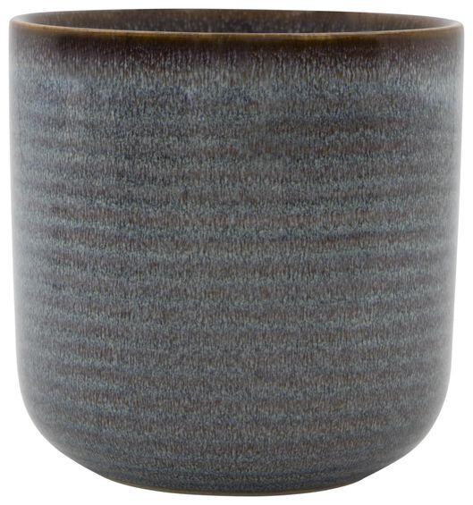 Blumentopf, Ø 11 x 11.5 cm, Keramik, reaktive Glasur 11.5 x 11 naturfarben - 13311045 - HEMA