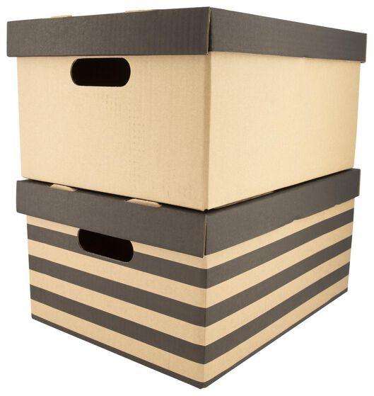 2 boîtes de rangement 28 x 37.5 x 18.5 - 39800010 - HEMA