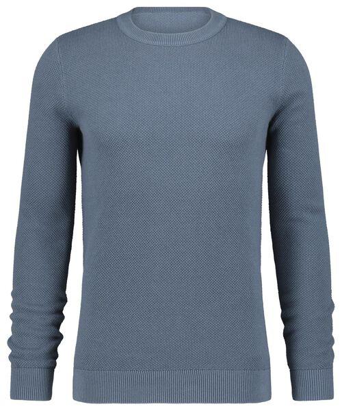 Herren-Pullover, Strickmuster blau blau - 1000022441 - HEMA