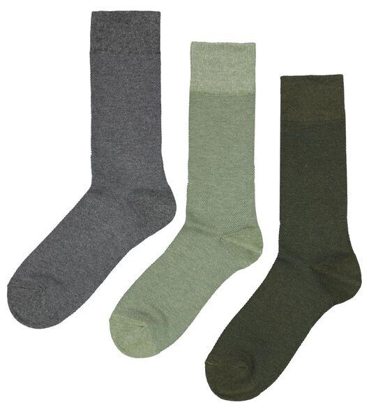 3er-Pack Herren-Socken, Piqué grün grün - 1000023343 - HEMA