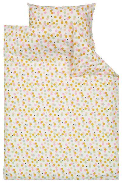 Image of HEMA Duvet Cover Child's Bed 100x135 - Dots (white)
