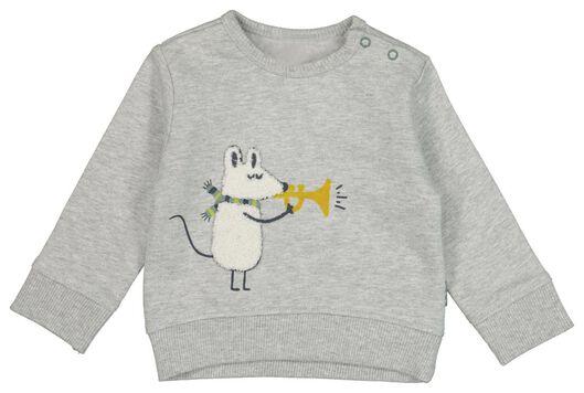Babyoberteile - HEMA Newborn Sweatshirt Grau - Onlineshop HEMA