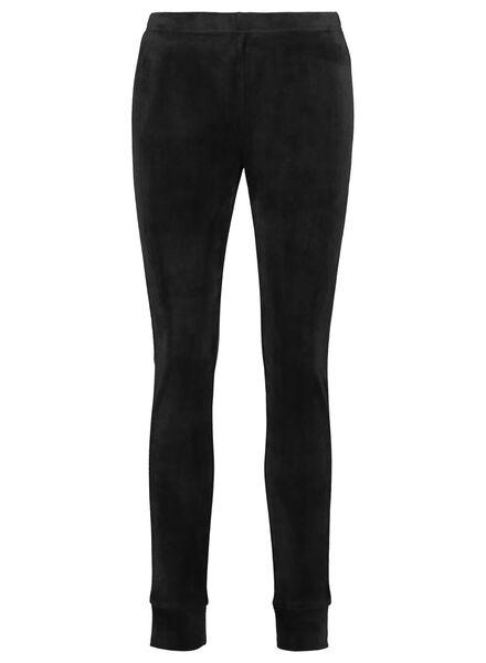 legging femme velours noir noir - 1000016982 - HEMA