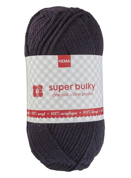 Strickgarn Super Bulky - anthrazit Super Bulky anthrazitfarben - 1400175 - HEMA