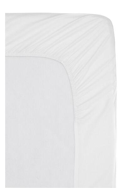 drap-housse - hôtel percale de coton - 80 x 200 cm - blanc - 5140116 - HEMA