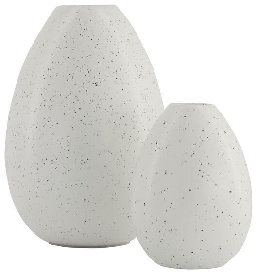 Keramikvase, weiß, 15 cm hoch - 25810040 - HEMA