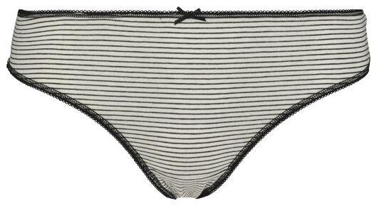 3-pack women's thongs black/white black/white - 1000018552 - hema