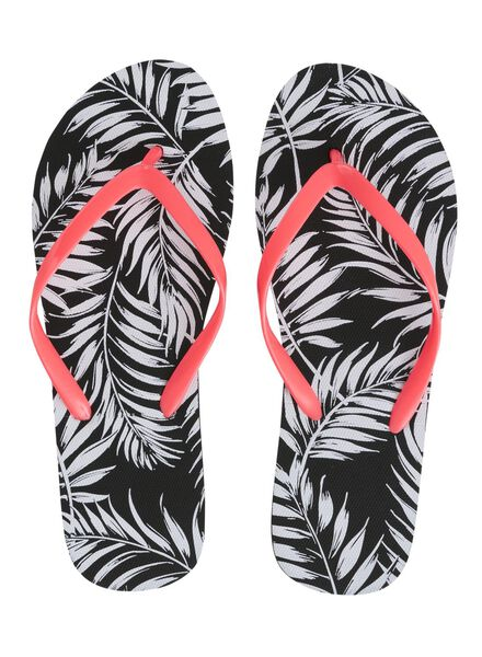 women's flip-flops black/white black/white - 1000006722 - hema