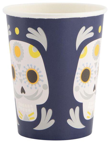 10 gobelets en papier 250 ml - Dia de los Muertos - 25200548 - HEMA