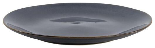 assiette plate - 26 cm - Porto - émail réactif - bleu foncé - 9602215 - HEMA