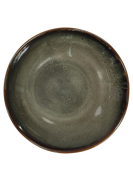 plat 14 cm - Porto - émail réactif - taupe - 9602053 - HEMA