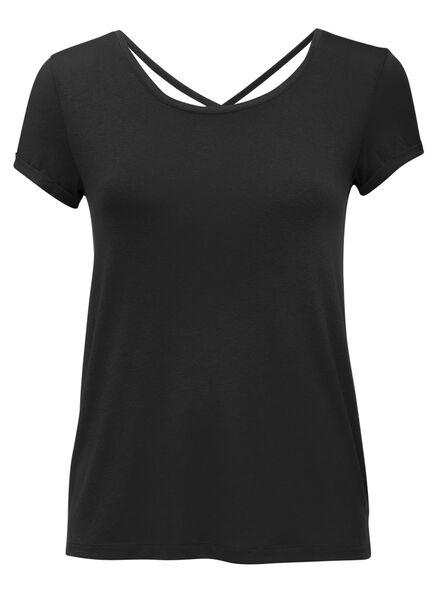 women's T-shirt black black - 1000007648 - hema