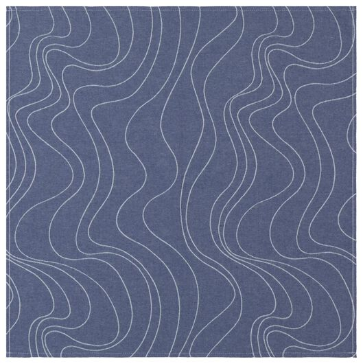 tea towel - 65 x 65 - cotton - blue waves - 5490033 - hema