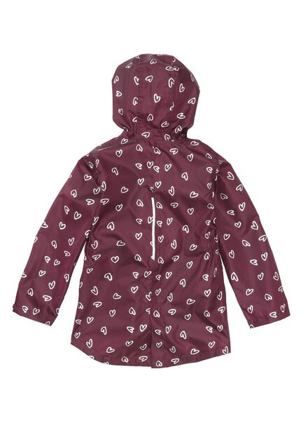 foldable children's raincoat red red - 1000006269 - hema