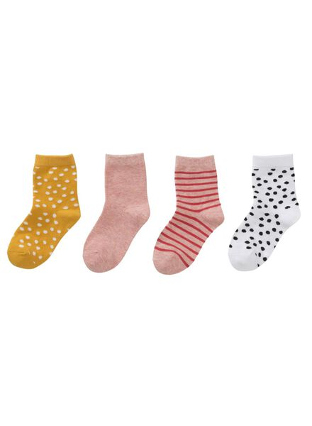 HEMA 4er Pack Kindersocken Rosa