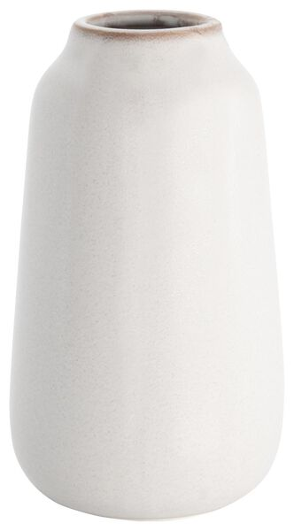 vase Ø8x15.5 vernis réactif blanc - 13322008 - HEMA