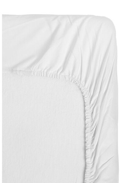 fitted sheet - jersey cotton white white - 1000013993 - hema