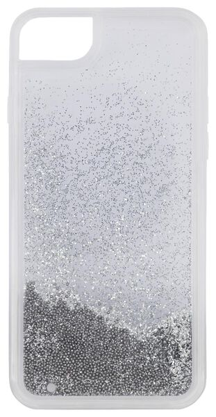 HEMA Softcase IPhone 6/6s/7/8/SE2020 Beads Zilver