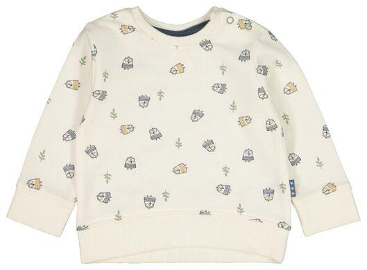 Babyoberteile - HEMA Newborn Sweatshirt, Tiere Weiß - Onlineshop HEMA