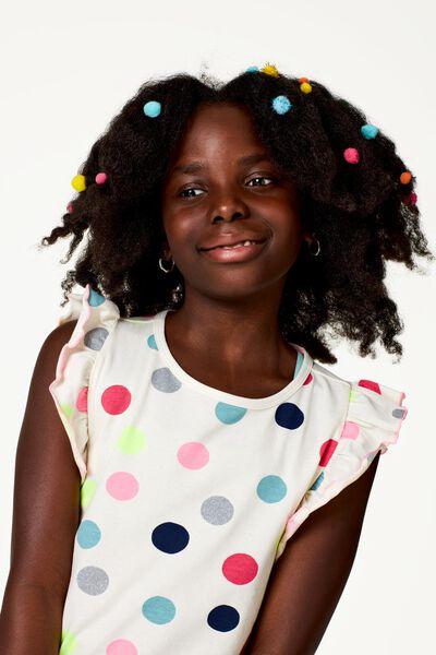 Kinder-Kleid, Punkte eierschalenfarben eierschalenfarben - 1000023273 - HEMA